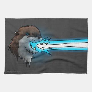 Death Laser Otter- Blue (Towel) Tea Towel