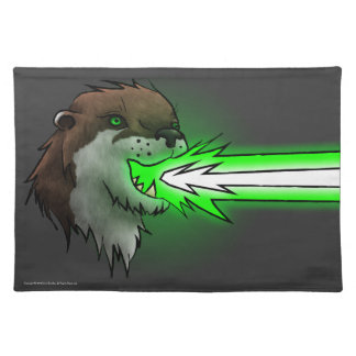 Death Laser Otter- Green (Placemat) Placemat