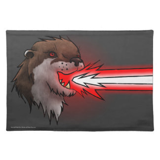 Death Laser Otter- Red (Placemat) Placemat