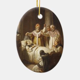 Death of Saint Margaret of Hungary - Jozsef Molnar Christmas Ornament