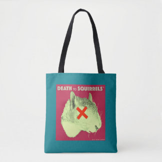 DEATH TO SQUIRRELS™ tote med. turquoise