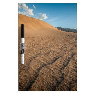Death valley, desert natural sand dunes near devil Dry-Erase whiteboard
