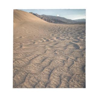 Death valley, desert natural sand dunes near devil notepad