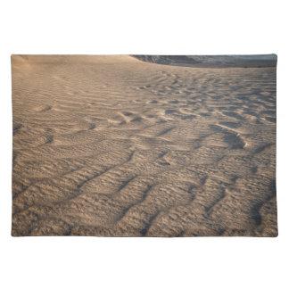 Death valley, desert natural sand dunes near devil cloth placemat