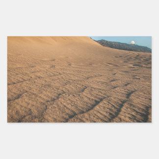 Death valley, desert natural sand dunes near devil rectangular sticker