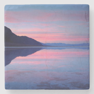 Death Valley National Park. Badwater at dawn Stone Coaster
