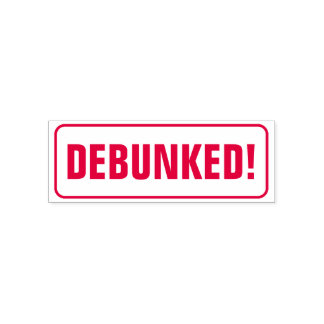 """""""DEBUNKED!"""" + Rounded Corners Rectangle Self-inking Stamp"""
