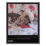 december 2012 calendar personalised flyer