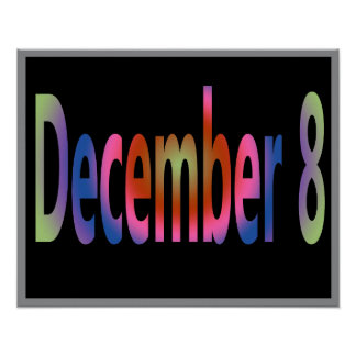 December 8 poster