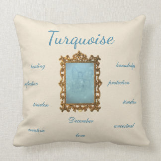 December Birthstone Turquoise Fairy Cushion