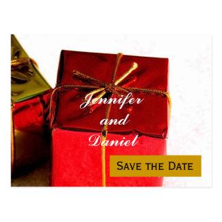 December Wedding Save the Date Announcement Postcard