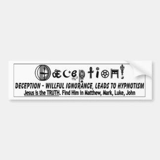 DECEPTION 2 BUMPER STICKERS