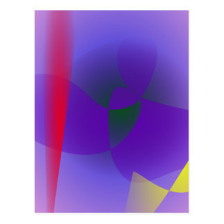 Decisive Woman Lavender Abstract Postcards
