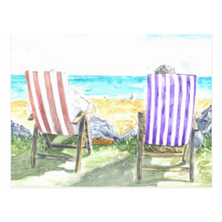 'Deck Chairs' Postcard