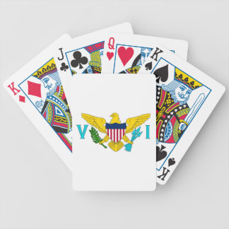 Deck Playing Cards with Flag of Virgin Islands