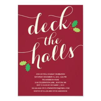 DECK THE HALLS | HOLIDAY INVITATION