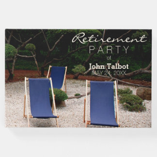 Deckchairs Personalized Retirement Guest Book 1