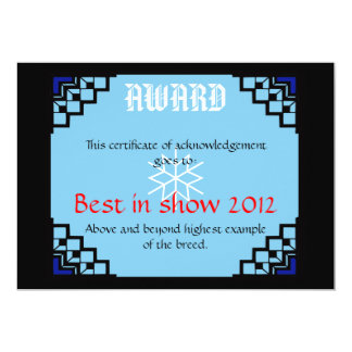 deco border pet award 1 13 cm x 18 cm invitation card