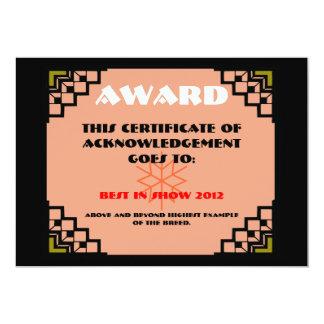 deco border pet award 2 5x7 paper invitation card