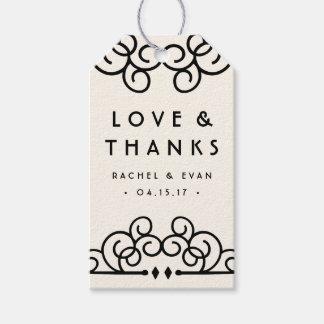 Deco Flourish Wedding Favor Thank You