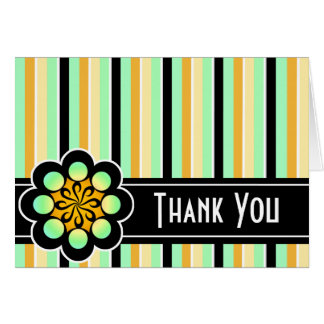 Deco Retro Thank You Card