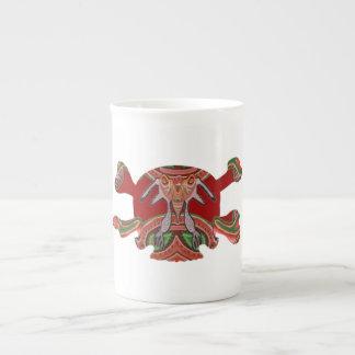 Deco Skull - Bull Alien and Colorful Graphics Porcelain Mugs