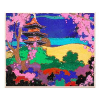 Deco Spring Pagoda Photo Print