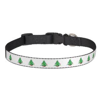 Decorated Christmas tree cartoon Pet Collar