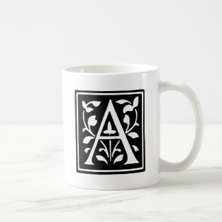 Decorated Typography Letter A Coffee Mug