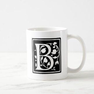Decorated Typography Letter B Coffee Mug