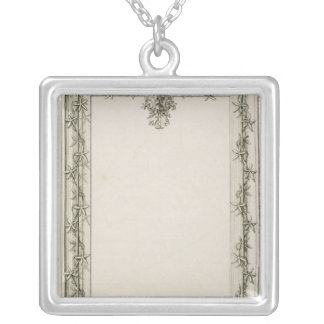 Decorative border, 1809 silver plated necklace