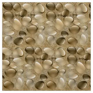 Decorative Brown Gemstone Polyester Weave Fabric