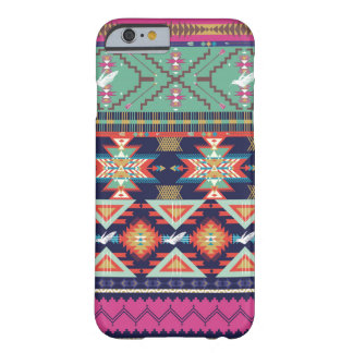 Decorative colorful pattern in aztec style barely there iPhone 6 case