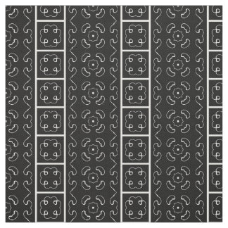 Decorative Fabric of Lines in Black and White
