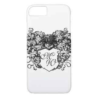 Decorative, Floral, Coat of Arms Monogram iPhone 7 Case
