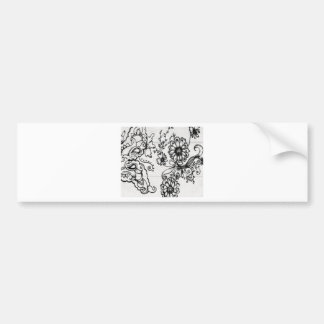 Decorative floral design bumper stickers
