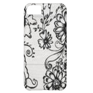 Decorative floral design cover for iPhone 5C