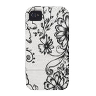 Decorative floral design vibe iPhone 4 cover