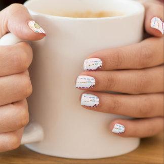 Decorative Floral Design Minx Nail Art