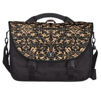 Decorative Floral Motif Laptop Commuter Bag