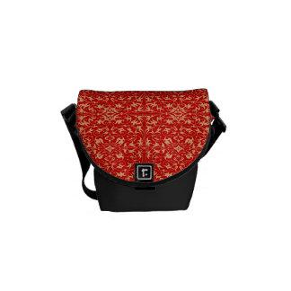 Decorative Floral Motif Messenger Bags
