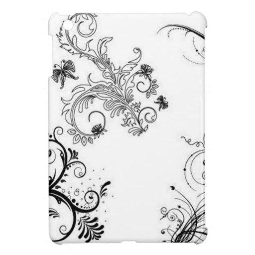 Decorative floral ornaments iPad mini case