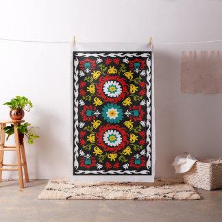 Decorative floral suzani fabric