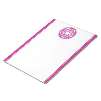 Decorative Floral Tiles Notepad - Purple