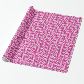 Decorative Floral Tiles Wrapping Paper - Purple