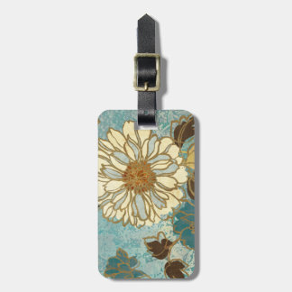 Decorative Florals in Blue and White Tags For Luggage
