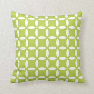 Decorative Geometric Pillow in Tender Shoots Green