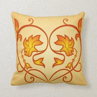 Decorative Heart fun floral designed throw pillow