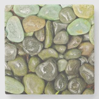 Decorative landscaping rocks stone coaster