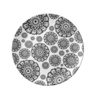 Decorative Mandala Polka Dot Plate